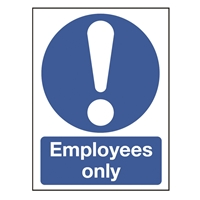 Picture of Employees Only Sign