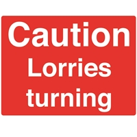 Picture of Caution Lorries Turning Sign