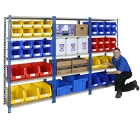 Picture of J Rivet Shelving with MFC Shelves