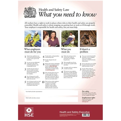 Picture of Health & Safety Law Poster