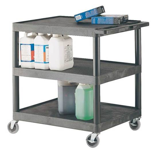 Picture of Plastic Multi-Purpose 3 Shelf Trolley