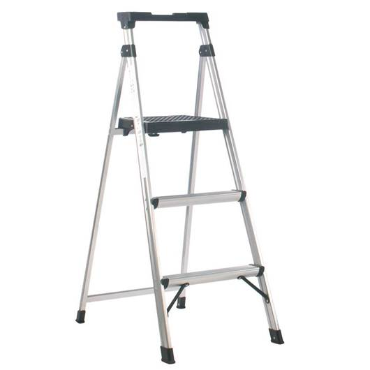 Picture of Aluminium Folding Stepladder with Black Tool Tray