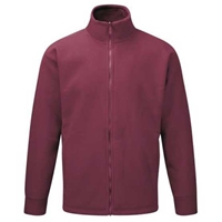Picture of Mens Burgundy Fleece Jacket