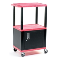 Picture of Service Trolleys with Coloured Shelves & Cupboard
