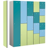 Picture of Aluminium Framed Lockers with Laminate Doors